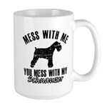 Schnauzer Dog design Large Mug