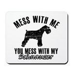 Schnauzer Dog design Mousepad