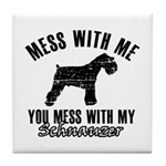 Schnauzer Dog design Tile Coaster