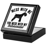 Schnauzer Dog design Keepsake Box