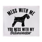 Schnauzer Dog design Throw Blanket