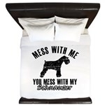 Schnauzer Dog design King Duvet
