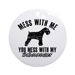 Schnauzer Dog design Ornament (Round)