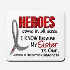 Heroes All Sizes Juv Diabetes Mousepad