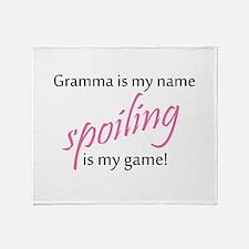 Funny Grandma granddaughter Throw Blanket
