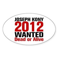 Kony 2012 Wanted Decal