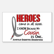 Heroes All Sizes Juv Diabetes Decal