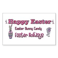 Happy Easter Holiday Decal