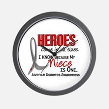 Heroes All Sizes Juv Diabetes Wall Clock