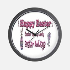 Happy Easter Holiday Wall Clock