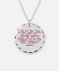 Gravity moves Imprinted Necklace