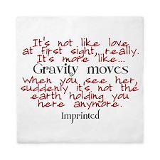 Gravity moves Imprinted Queen Duvet