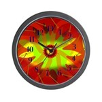 Garden in Fire Wall Clock