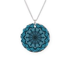 IceBlue Bliss Mandala Necklace