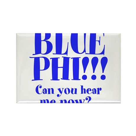 BLUE PHI Rectangle Magnet (100 pack)
