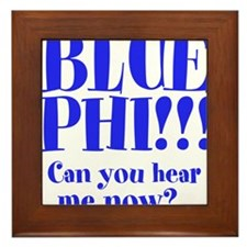 BLUE PHI Framed Tile