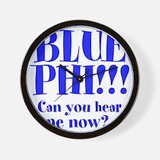 BLUE PHI Wall Clock