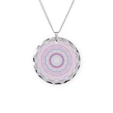 Chalk Rainbow Waves Kaleidoscope Necklace Circle C