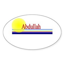 Abdullah Oval Decal