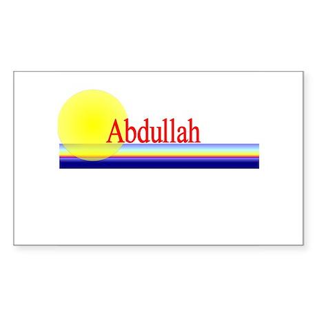 Abdullah Rectangle Sticker