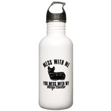 Skye terrier Dog design Sports Water Bottle