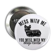 "Skye terrier Dog design 2.25"" Button (10 pack)"