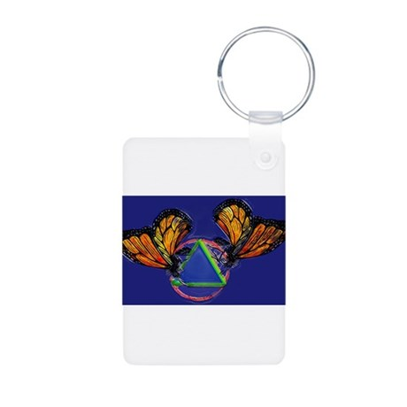 Recovery Butterfly Aluminum Photo Keychain