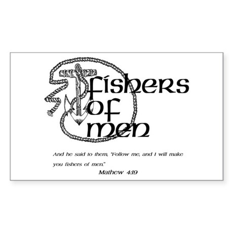 Fishers of Men Sticker (Rectangle)