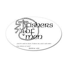 Fishers of Men 22x14 Oval Wall Peel