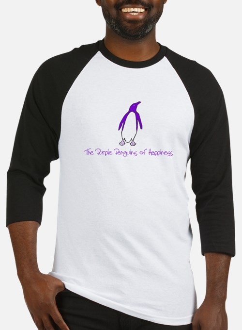 Cute Purple penguin Baseball Jersey