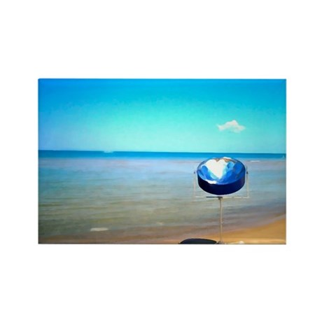 Steel drum on my beach Rectangle Magnet (10 pack)