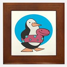 Summer Time Penguin Framed Tile