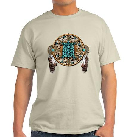 Turquoise Tortoise Dreamcatcher Light T-Shirt