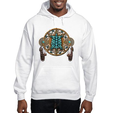 Turquoise Tortoise Dreamcatcher Hooded Sweatshirt