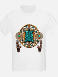 Turquoise Tortoise Dreamcatcher T-Shirt