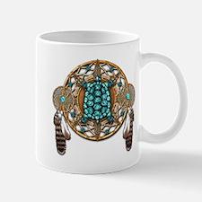 Turquoise Tortoise Dreamcatcher Mug