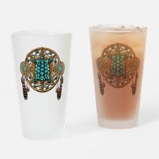 Turquoise Tortoise Dreamcatcher Drinking Glass