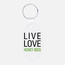Live Love Honey Bees Keychains