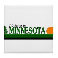 Cute Minnesota gophers Tile Coaster