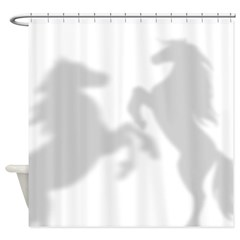 Horses Playing Shower Curtain