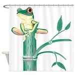 Frog Bamboo Shower Curtain