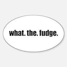 Fudge Sticker (Oval)