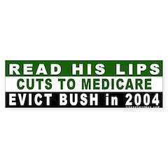 Read His Lips: Medicare Bumper Bumper Sticker