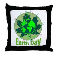 Earth Day, Technical Throw Pillow