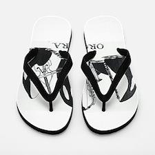 Cute Orca Flip Flops