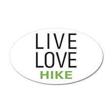 Live Love Hike 22x14 Oval Wall Peel