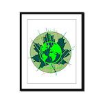 Earth Day, Technical Framed Panel Print