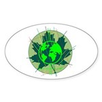 Earth Day, Technical Sticker (Oval 50 pk)