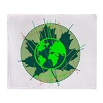 Earth Day, Technical Throw Blanket