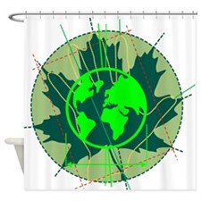 Earth Day, Technical Shower Curtain